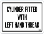 Cylinder fitted with left hand thread (Pk 10)